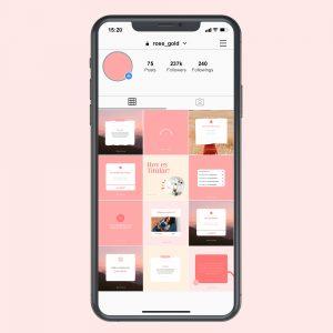 Plantillas Rose Hope editables en Canva para Instagram